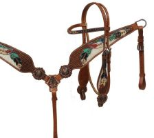 Painted Headstall and Breast Collar sets