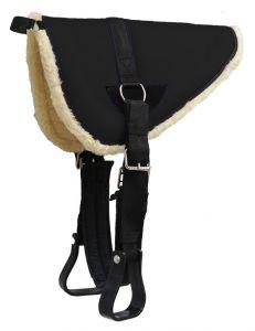 Showman MINIATURE Pony 20 x 20 Barbwire Tooled Wear Leathers Gray Felt Saddle Pad