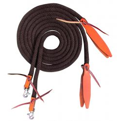 New Horse Tack! Showman BLUE Flat Cotton Roping Reins with Scissor Snap Ends
