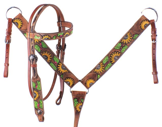 Showman Hand Painted Sunflower Tripping Collar New Horse TACK!